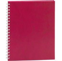 Agenda Premier cu sina metalica si coperta rosie
