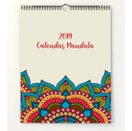 Calendar de perete A4 Mandala