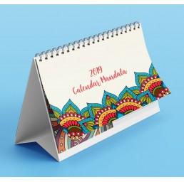 Calendar de birou A5 Mandala