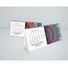 Calendar de birou cu 13 file si motive mandala