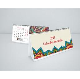 Calendar de birou DL 13 file Mandala