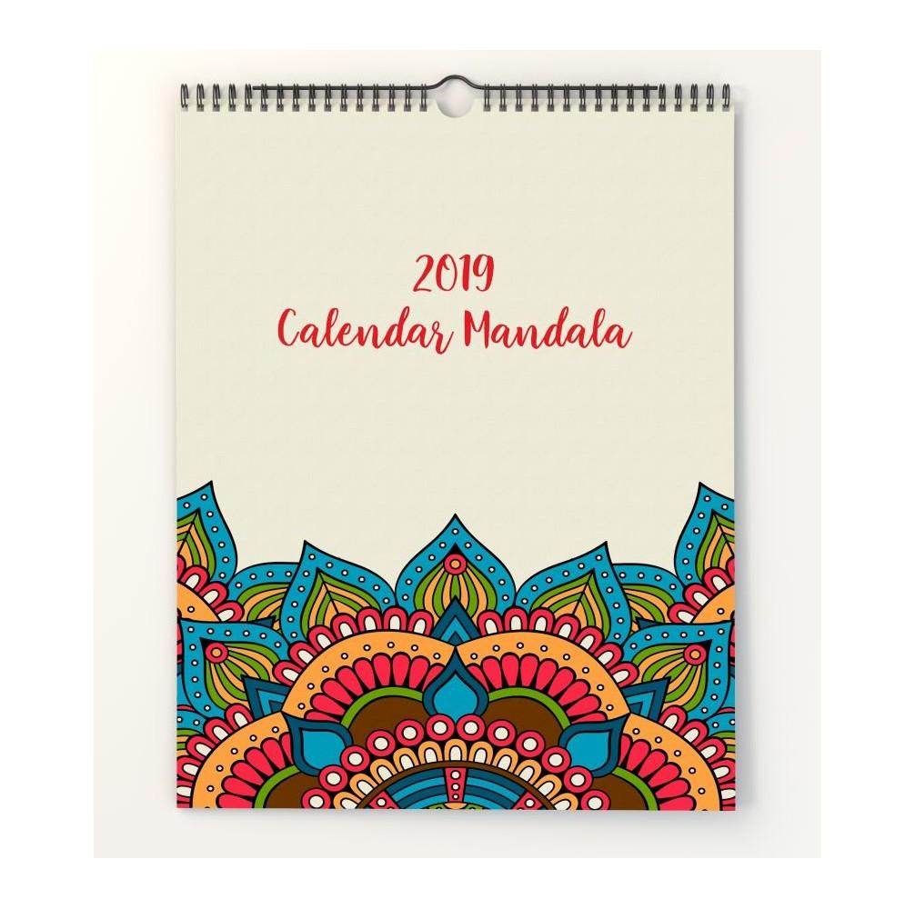 Calendar de perete A3 personalizat cu modele Mandala