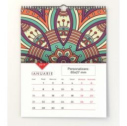 Calendar de perete A3 Mandala