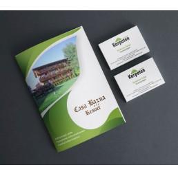 set carti de vizita cu mapa personalizata